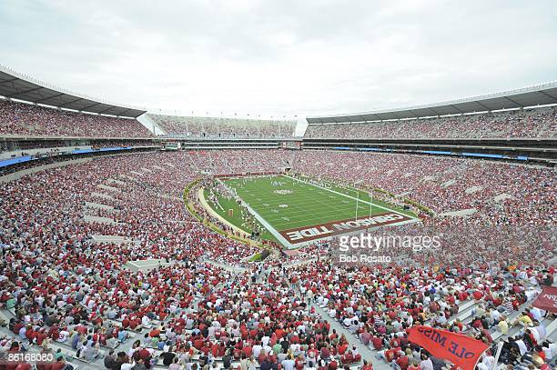 Overall view of fans in stands during Alabama Spring Game at BryantDenny Stadium Tuscaloosa AL 4/18/2009 CREDIT Bob Rosato