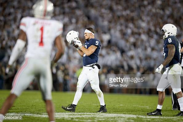 Penn State QB Trace McSorley walking on field without ...