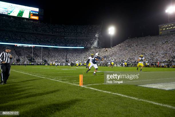 Penn State Saquon Barkley in action making touchdown catch vs at Beaver Stadium State College PA CREDIT Rob Tringali