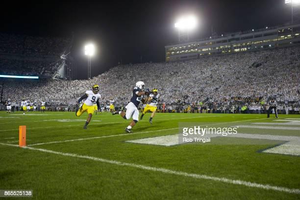 Penn State Saquon Barkley in action scoring touchdown vs at Beaver Stadium State College PA CREDIT Rob Tringali