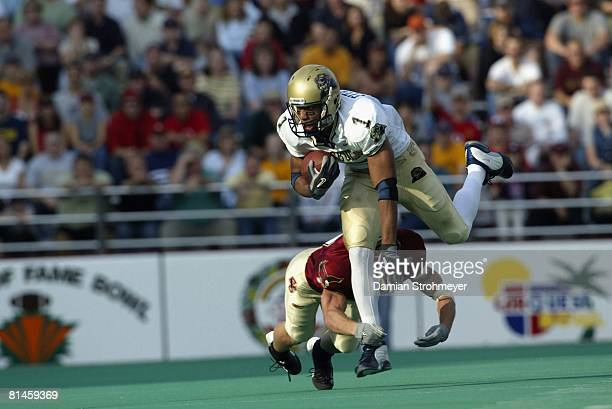 College Football Pittsburgh Larry Fitzgerald in action vs Boston College Chestnut Hill MA 11/1/2003