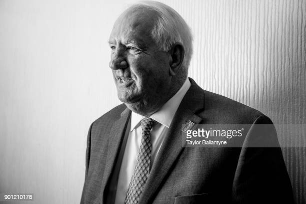 Portrait of former Clemson coach Danny Ford before induction ceremony at New York Hilton Midtown New York NY CREDIT Taylor Ballantyne