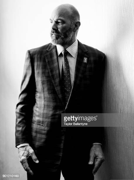 Portrait of former Michigan State wide receiver Kirk Gibson before induction ceremony at New York Hilton Midtown New York NY CREDIT Taylor Ballantyne