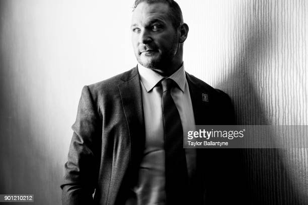Portrait of former New Mexico linebacker Brian Urlacher before induction ceremony at New York Hilton Midtown New York NY CREDIT Taylor Ballantyne