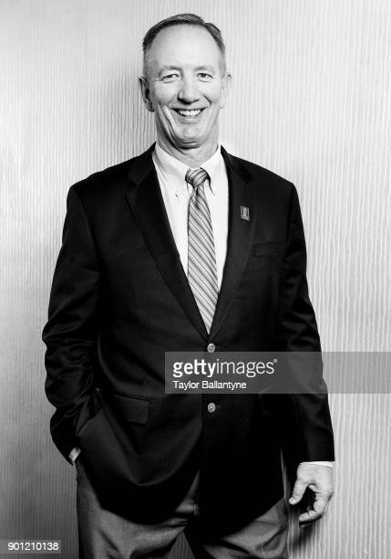 Portrait of former Notre Dame linebacker Bob Crable before induction ceremony at New York Hilton Midtown New York NY CREDIT Taylor Ballantyne