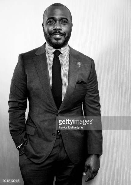 Portrait of former San Diego State running back Marshall Faulk before induction ceremony at New York Hilton Midtown New York NY CREDIT Taylor...