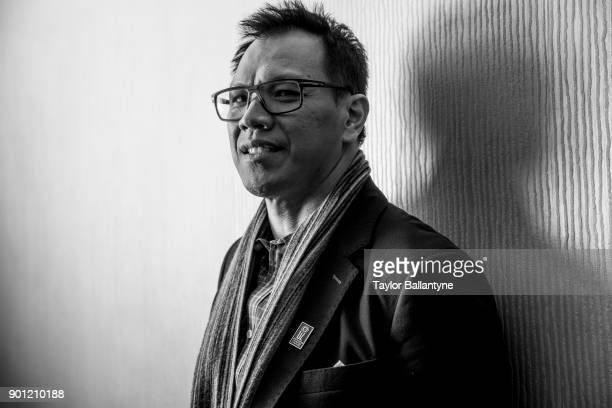 Portrait of former Texas AM linebacker Dat Nguyen before induction ceremony at New York Hilton Midtown New York NY CREDIT Taylor Ballantyne