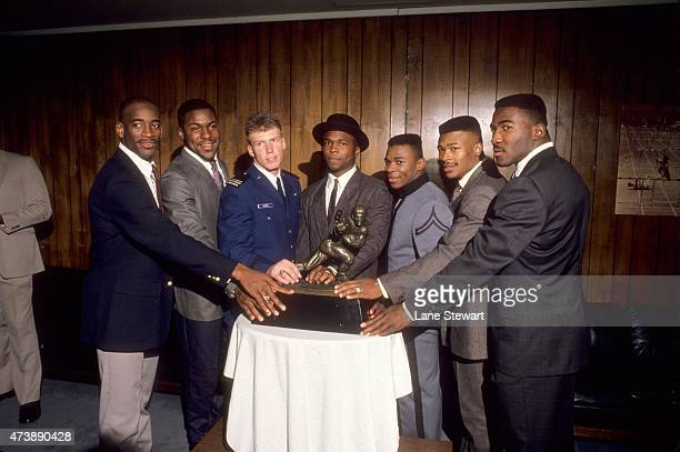 Portrait of Notre Dame Tony Rice, West Virginia Major Harris, Air Force Dee Dowis, Colorado Darian Hagan, Army Mike Mayweather, Penn State Blair...