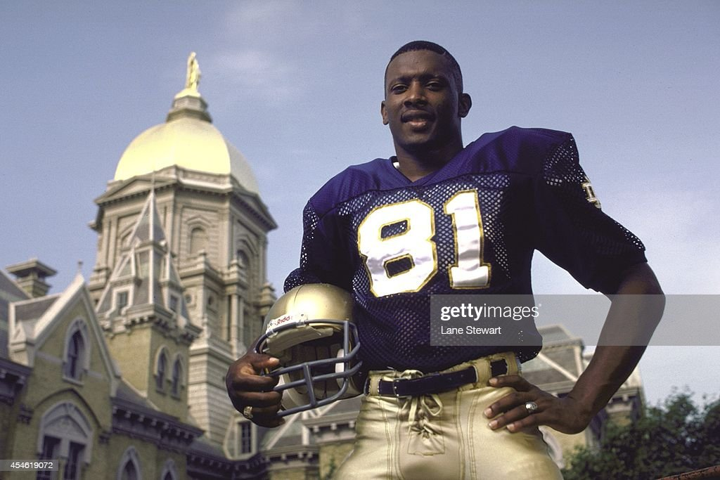 innovative design 4541b acc09 Portrait of Notre Dame wide receiver Tim Brown posing in ...