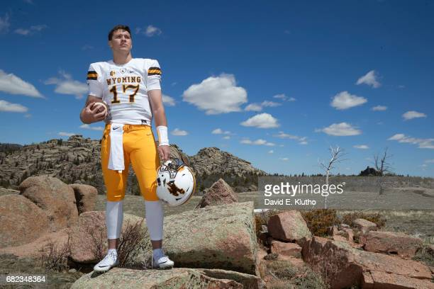 Portrait of Wyoming QB Josh Allen during photo shoot at Vedauwoo National Park Laramie WY CREDIT David E Klutho