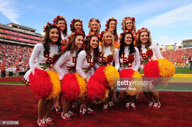 College Football Rose Bowl USC cheerleaders during game vs Illinois Pasadena CA 1/1/2008