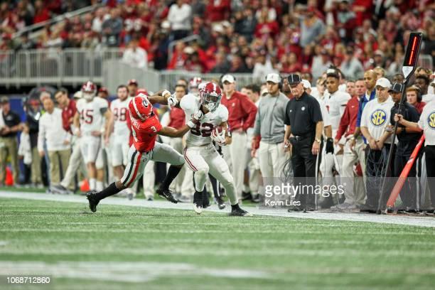 SEC Championship Alabama Irv Smith Jr in action vs Georgia Tyson Campbell at MercedesBenz Stadium Atlanta GA CREDIT Kevin Liles