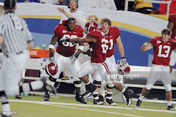 SEC Championship Alabama Mark Ingram in action rushing for touchdown vs Florida Atlanta GA 12/5/2009 CREDIT Bob Rosato