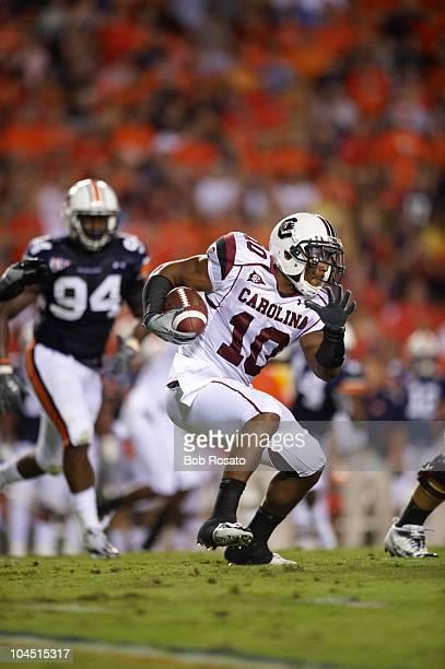 South Carolina Brian Maddox in action rushing vs Auburn Auburn AL 9/25/2010 CREDIT Bob Rosato