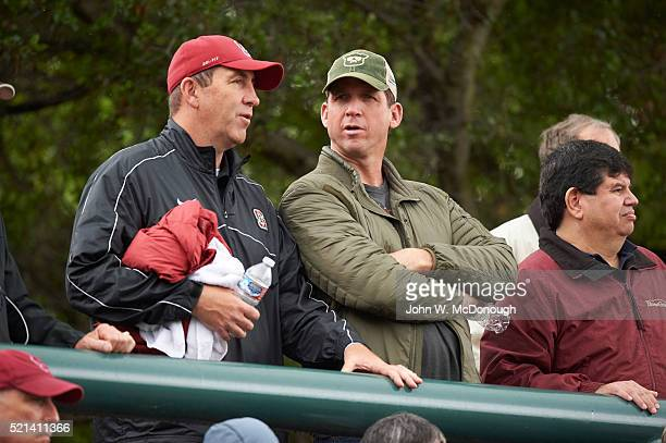 Stanford Christian McCaffrey father Ed in stands during spring game at Cagan Stadium Palo Alto CA CREDIT John W McDonough