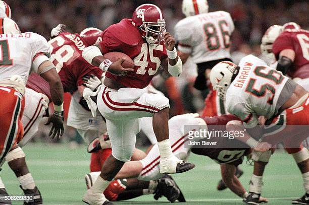 Alabama Tarrant Lynch in action rushing vs Miami at Louisiana Superdome New Orleans LA CREDIT John Biever