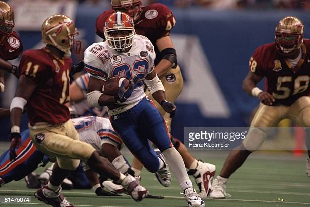 College Football Sugar Bowl Florida Terry Jackson in action rushing vs Florida State New Orleans LA 1/2/1997