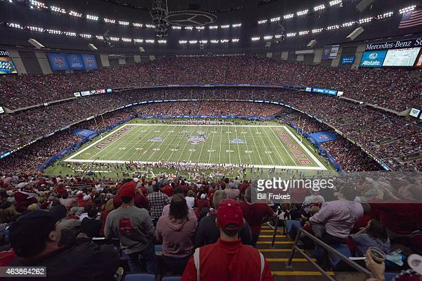 Sugar Bowl Overall view of MercedesBenz Superdome during Ohio State vs Alabama game New Orleans LA CREDIT Bill Frakes