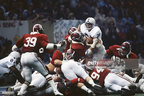 Sugar Bowl Penn State Mike Guman in action attempting 4th down touchdown vs Alabama Barry Krauss Murray Legg Rich Wingo and Marty Lyons during 4th...
