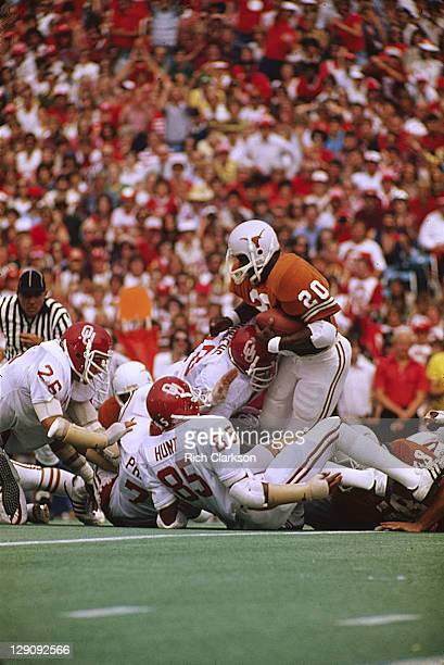 Texas Earl Campbell in action rushing vs Oklahoma at Cotton Bowl Stadium Dallas TX CREDIT Rich Clarkson