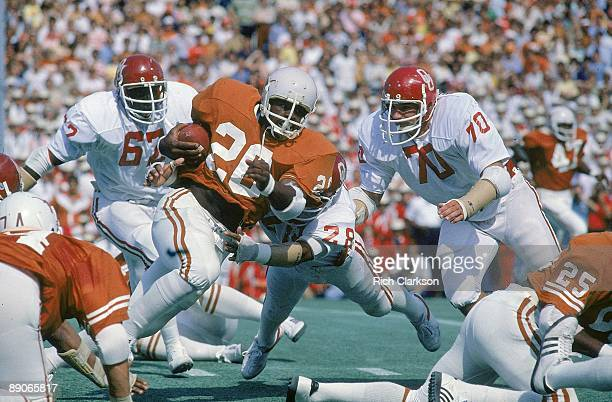 Texas Earl Campbell in action rushing vs Oklahoma Austin TX CREDIT Rich Clarkson