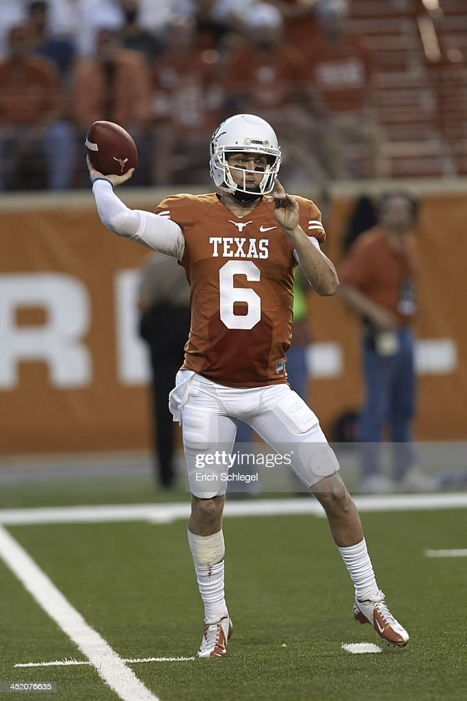 Texas QB Case McCoy in action, passing vs Oklahoma State ...