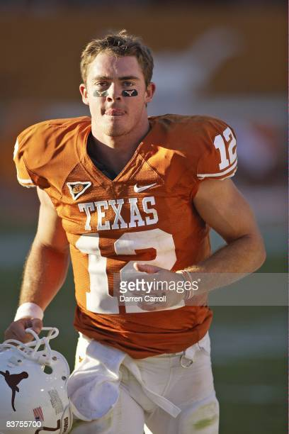 Texas QB Colt McCoy during game vs Oklahoma State. Austin, TX CREDIT: Darren Carroll