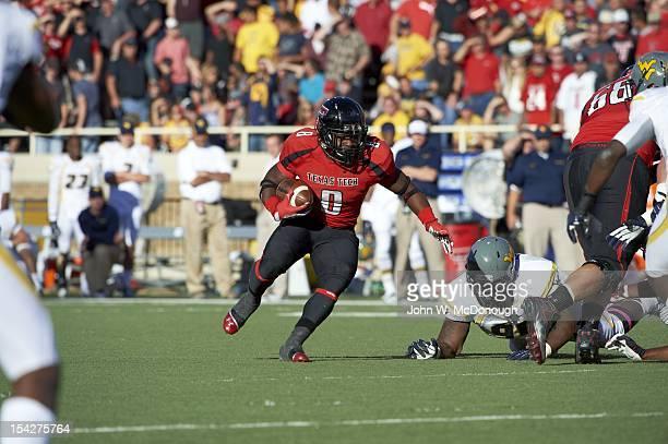Texas Tech SaDale Foster in action vs West Virginia at Jones AT&T Stadium. Lubbock, TX CREDIT: John W. McDonough