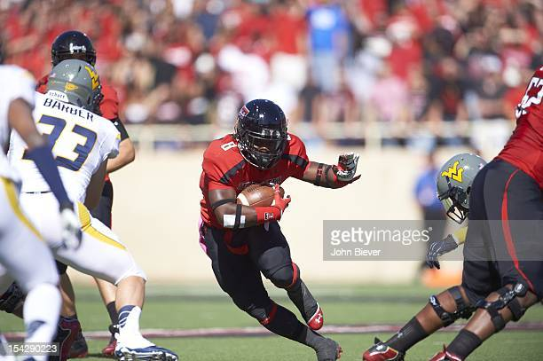 Texas Tech SaDale Foster in action vs West Virginia at Jones AT&T Stadium. Lubbock, TX CREDIT: John Biever