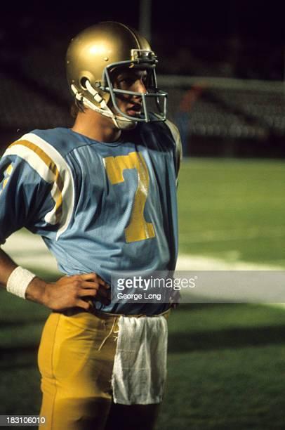 UCLA QB Mark Harmon on sidelines during game vs Nebraska at Rose Bowl Stadium Pasadena CA CREDIT George Long