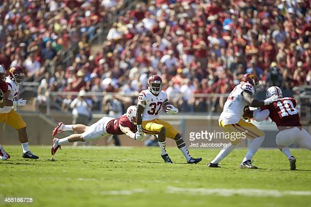 USC Javorius Allen in action rushing vs Stanford at Stanford Stadium Palo Alto CA CREDIT Jed Jacobsohn
