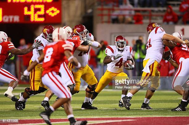 College Football USC Joe McKnight in action rushing vs Nebraska Lincoln NE 9/15/2007