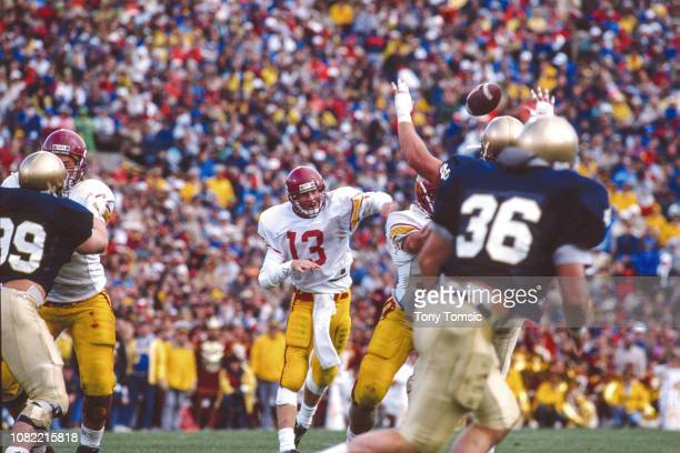 USC QB Todd Marinovich in action passing vs Notre Dame at Notre Dame Stadium South Bend IN CREDIT Tony Tomsic