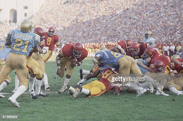 College Football USC Ricky Bell in action rushing vs UCLA Los Angeles CA