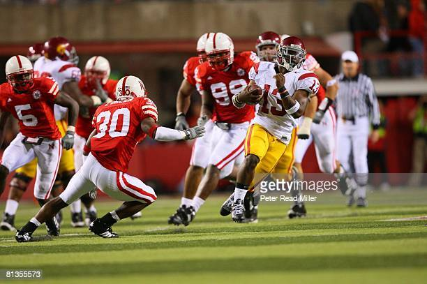 College Football USC Stafon Johnson in action rushing vs Nebraska Lincoln NE 9/15/2007
