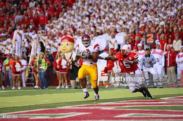 College Football USC Stanley Havili in action rushing for touchdown vs Nebraska Lincoln NE 9/15/2007