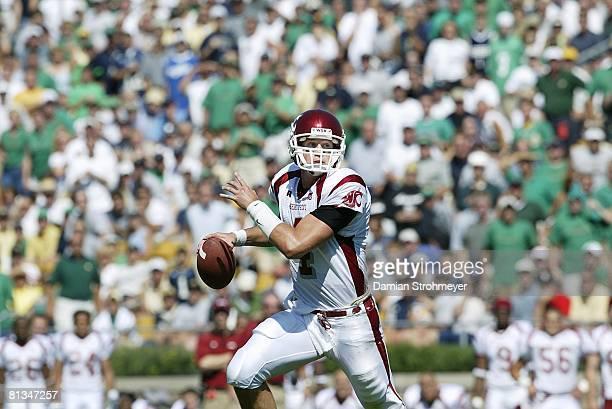 College Football Washington State QB Matt Kegel in action vs Notre Dame South Bend IN 9/6/2003