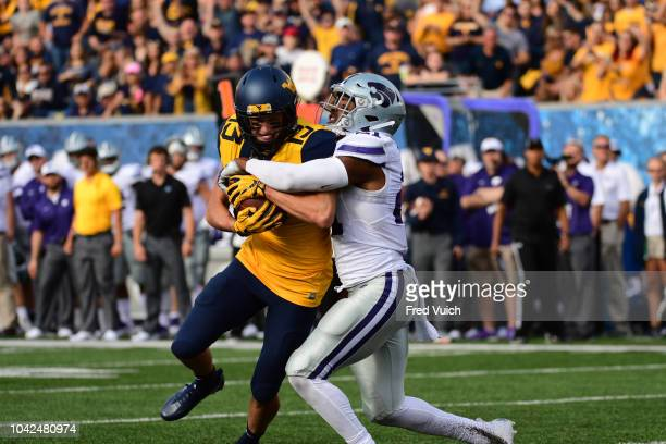 West Virginia David Sills V in action vs Kansas State Kendall Adams at Mountaineer Field at Milan Puskar Stadium Morgantown WV CREDIT Fred Vuich