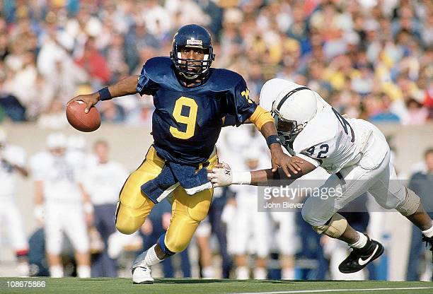 West Virginia QB Major Harris in action vs Penn State at Mountaineer FieldMorgantown WV CreditJohn Biever
