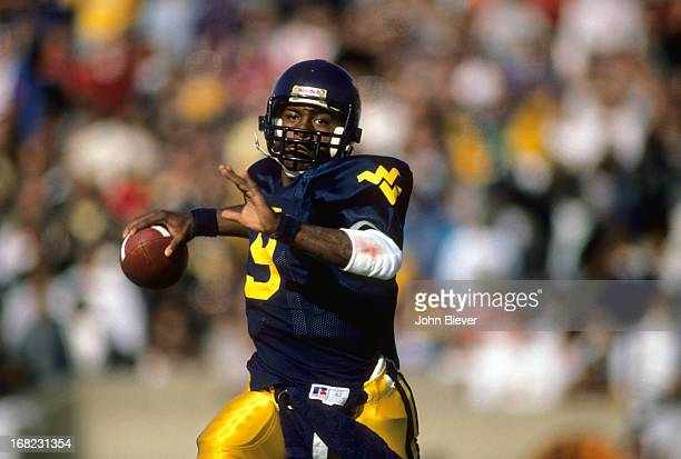 West Virginia QB Major Harris in action vs Penn State at Mountaineer Field Morgantown WV CREDIT John Biever