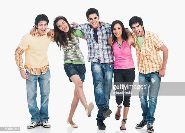 College friends having fun