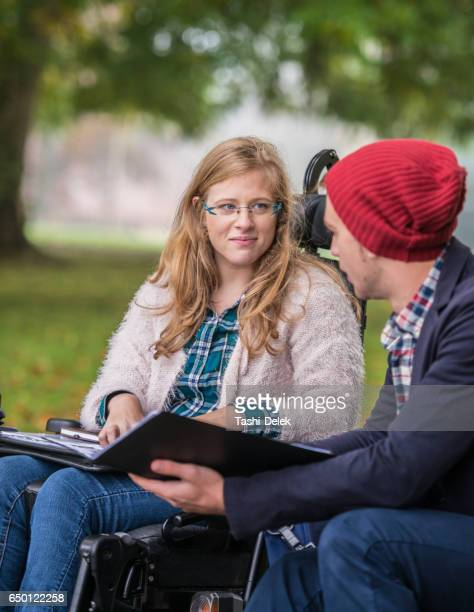 College Friends Study Outdoors Together