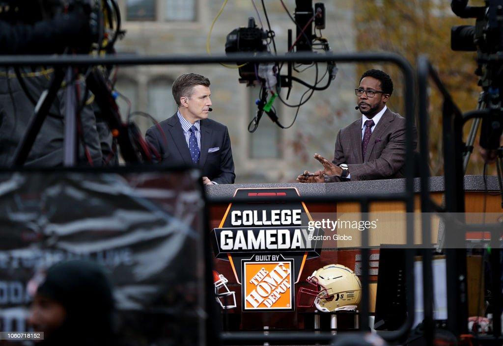 "ESPN's ""College GameDay"" Films At Boston College : News Photo"