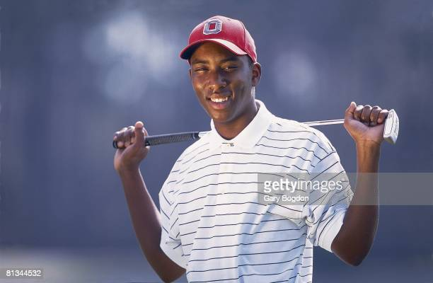 College Golf Closeup portrait of Ohio State Kevin Hall disabled deaf athlete at Wild Wing Plantation GC Conway SC 3/26/2001