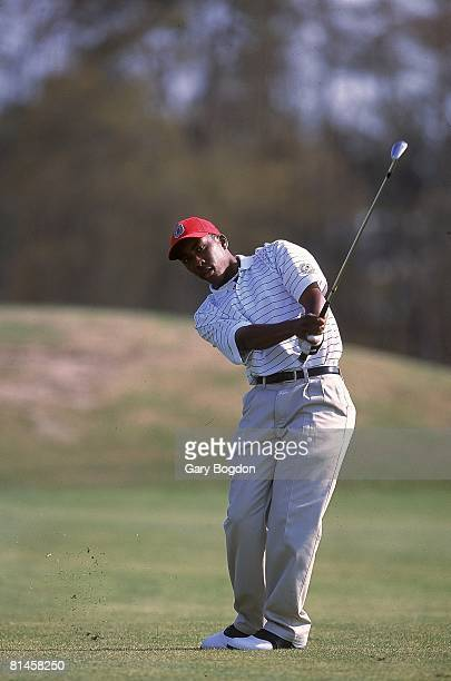 College Golf Ohio State Kevin Hall disabled deaf athlete in action at Wild Wing Plantation GC Conway SC 3/26/2001