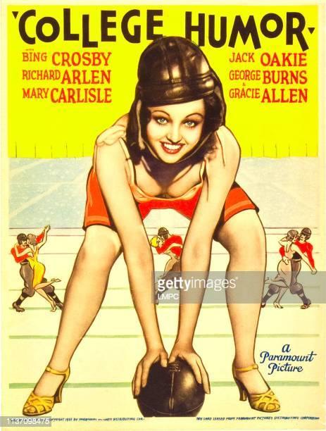 College Humor poster Mary Carlisle on midget window card 1933