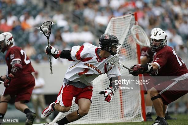 College Lacrosse: NCAA Playoffs, Maryland Xander Ritz in action vs UMass, Philadelphia, PA 5/27/2006
