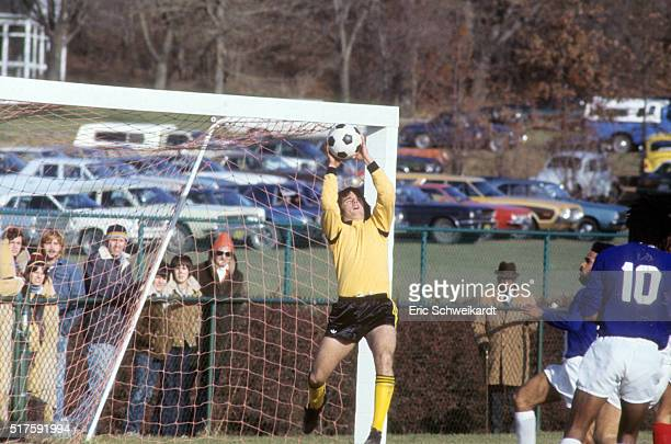 NCAA Final San Francisco goalie Salvador Diaz in action making save vs Southern Illinois at Cougar Field Edwardsville IL CREDIT Eric Schweikardt