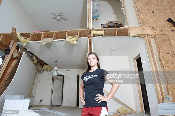 Tuscaloosa Tornado Portrait of University of Alabama gymnastics athlete Kayla Hoffman during photo shoot at her 1509 6th Avenue apartment complex...