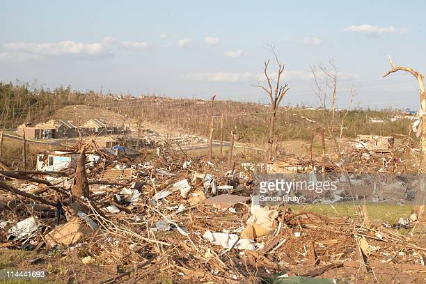 Tuscaloosa Tornado: View of decimated houses during a tour of the aftermath and destruction caused by the tornado. Tuscaloosa, AL 5/9/2011 CREDIT:...